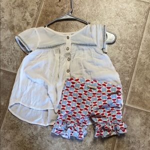 Matilda Jane size 4 top and shorts